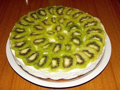 Receta fácil de tarta de kiwi