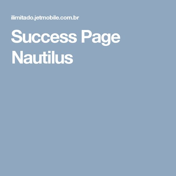 Success Page Nautilus