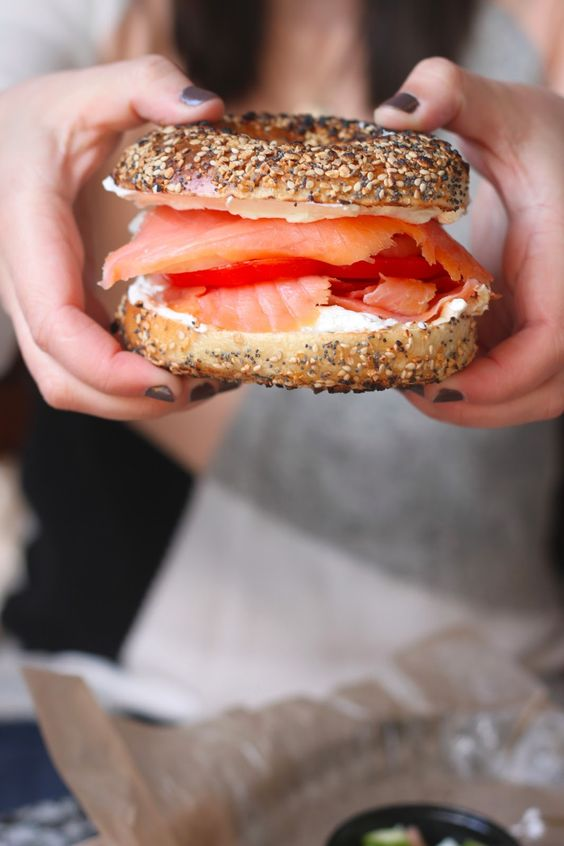 lox + cream cheese + everything bagel. want. want. want.
