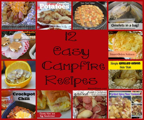 12 easy campfire recipes shared by some of the best bloggers around. Simple ingredients and easy for the kids to participate in the cooking.