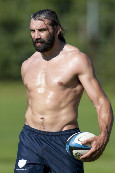 black french rugby player