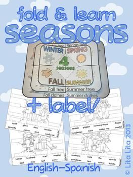 Seasons fold and learn + label | Clip art, Good ideas and Chang'e 3