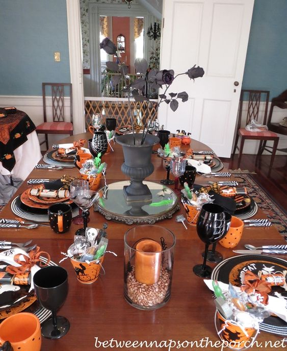Halloween tablescape via Between Naps on the Porch