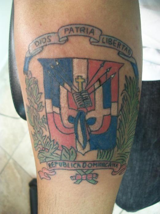 Dominican Flag tattoo  Dominicano my Home  Pinterest  Tattoo