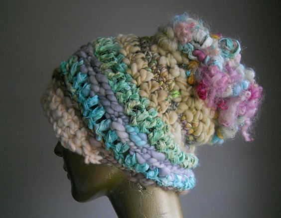 Free Form Crochet Hat No.2 / designs by amber