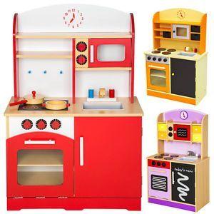Cocina De Madera De Juguete Para Niños Juguete Juego De Rol Toy Ebay Cocina Madera Cocina De Cartón Juguetes Para Niñas