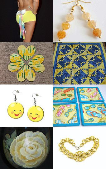 YELLOW Sunshine for Texas! by texasfriendsteametsy on Etsy--Pinned with TreasuryPin.com