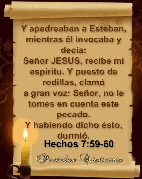 Hechos 7:59-60 Tremendo esteban perdonando a la ultima hora