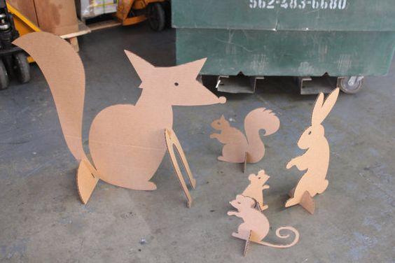 Criaturas del bosque cartón por MettaPrints en Etsy