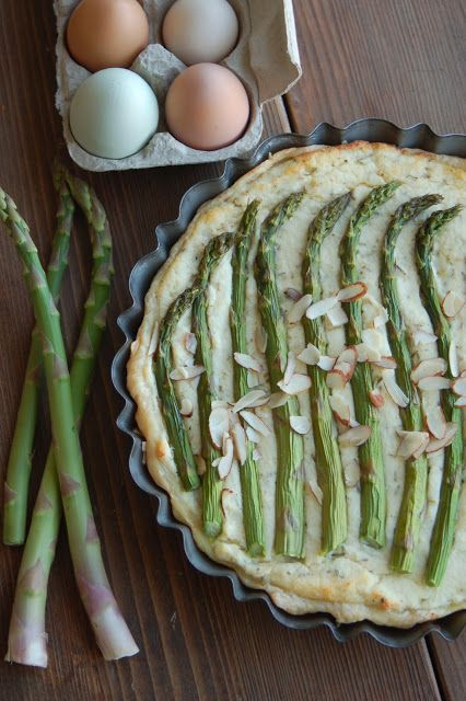 Rustic Dutch Rosemary Asparagus Pie #brunch