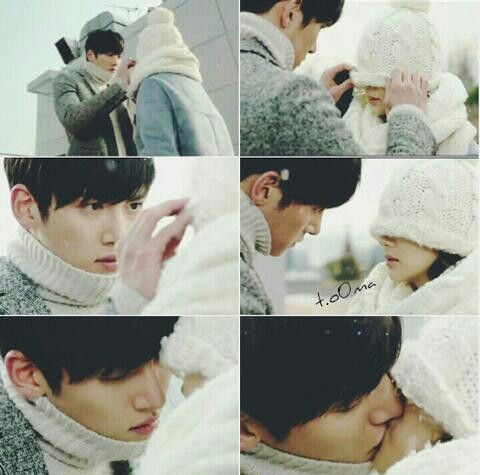healer kdrama couple kiss: