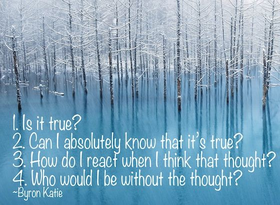 """What are the four questions that you need to ask to set yourself free of pain and suffering? Byron Katie's """"Loving What Is"""" has powerful answers."""