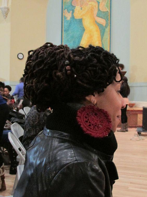 A Celebration of Curls Loc Updo