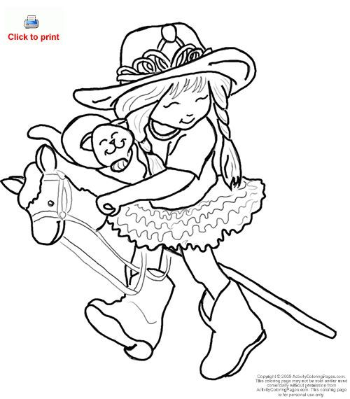 cowgirls and horses coloring pages - photo#3