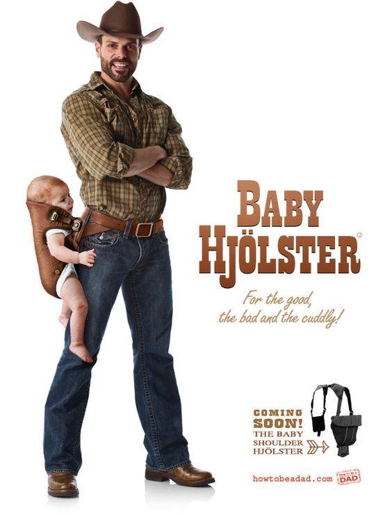 Baby Hjölster, A Western Gun Holster Parody of The Baby Björn Carrier