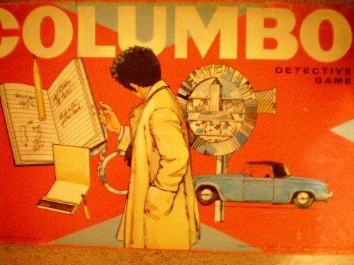 VINTAGE Columbo Detective Game -- Milton Bradley 1974 Board Game