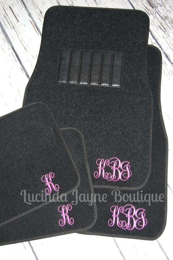 @bernie45miller    Hey, I found this really awesome Etsy listing at https://www.etsy.com/listing/176568347/monogrammed-black-car-floor-mats