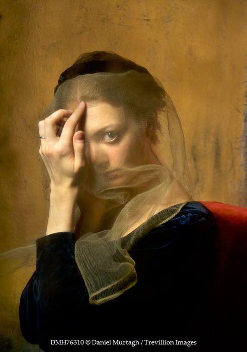 Daniel Murtagh Young Medieval Woman Wearing Veil Women Classic Art Art Photography Art