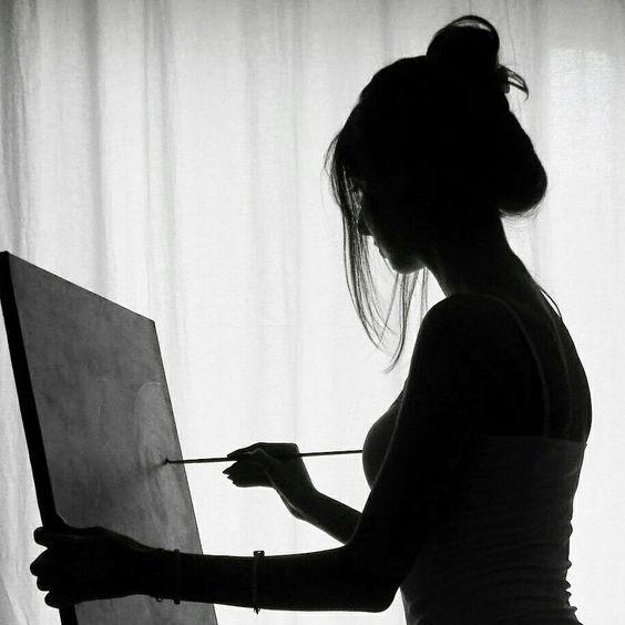 Artist, art girl, art work