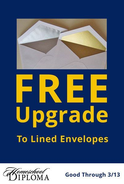 Free Upgrade to Lined Envelopes with Purchase of Select Grad Announcements. Through March 13, 2017!