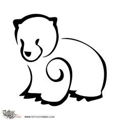 bear outline tattoo - Google Search | body art, piercings ...
