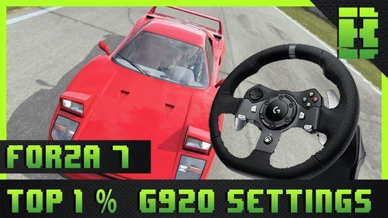 Forza Motorsport 7 G920 Controller Settings Top 1 Laptime Setup Logitech Steering Wheel Pc Xbox One Steering Wheel Forza Motorsport Forza