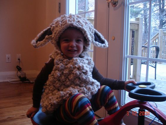 Lamb Costume Knitting Pattern