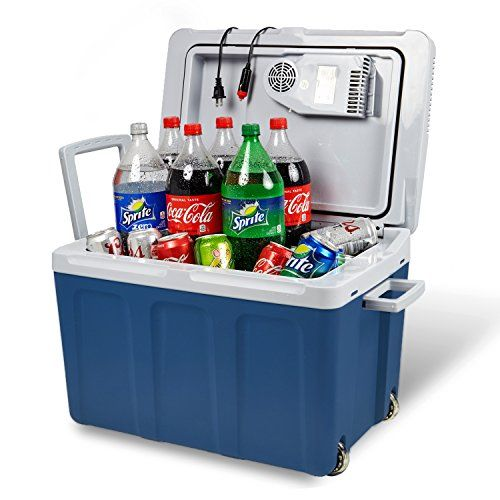 Knox Electric Cooler And Warmer For Car And Home With Wheels 48 Quart 45 Liter Holds 60 Cans Or 6 Two Liter Bottles Cooler Man Cave Furniture Electricity