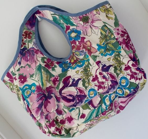 Sac en tissu réversible! Shopping Bag double-sided design! Buy now online! Juju Handcraft!