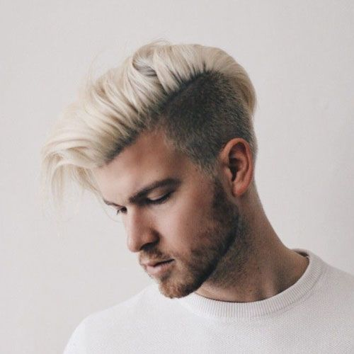 Platinum Blonde Comb Over Undercut Longblondehairstyles Men Blonde Hair Platinum Blonde Hair Men Mens Hairstyles