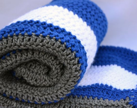 Crochet Pattern For Sports Blanket : Dodger fan inspired crochet blanket, afghan, lap blanket ...
