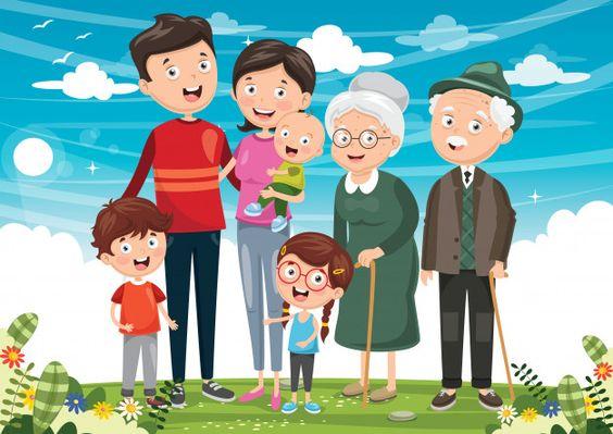 Illustration of happy family Premium Vec...   Premium Vector #Freepik #vector #people #kids #children #family