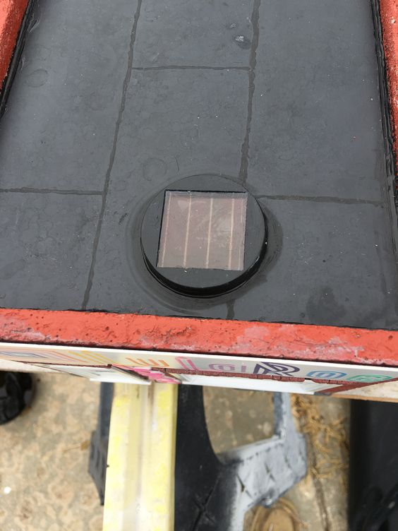 roof top with LED solar panel