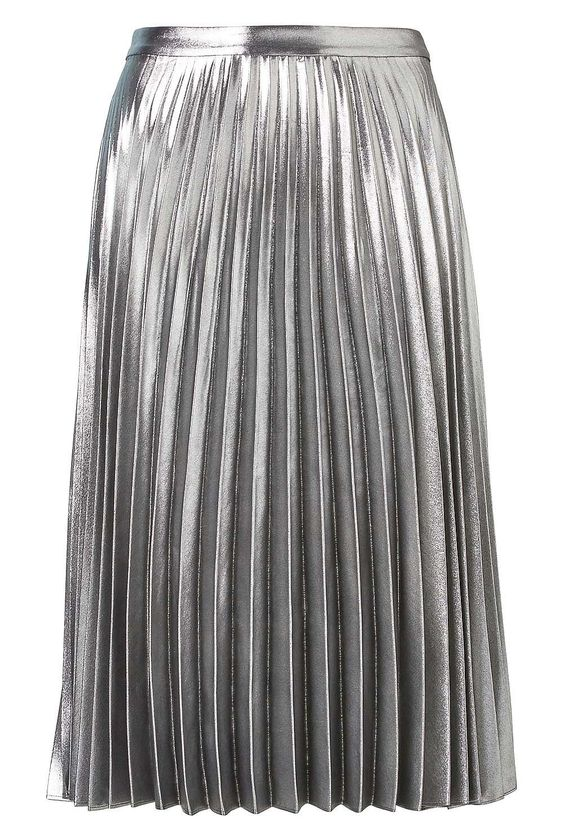 Metallic Pleat Skirt: