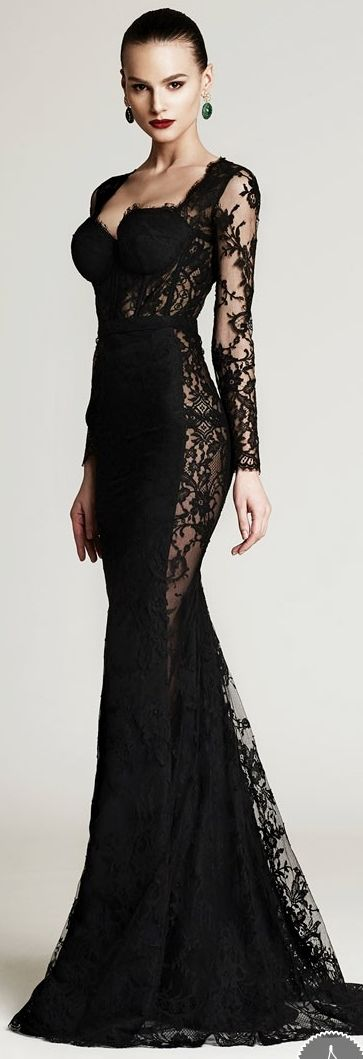 Cristina Savulescu Aw 2015 2016 Fashion Pinterest Style Black Lace Dresses And Gowns