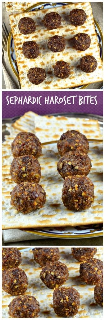 Recipes: Sephardic Style Haroset Bites | http://mayihavethatrecipe.com ...