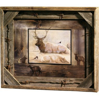 Artsy barn wood and barbed wire on pinterest for Making a large picture frame