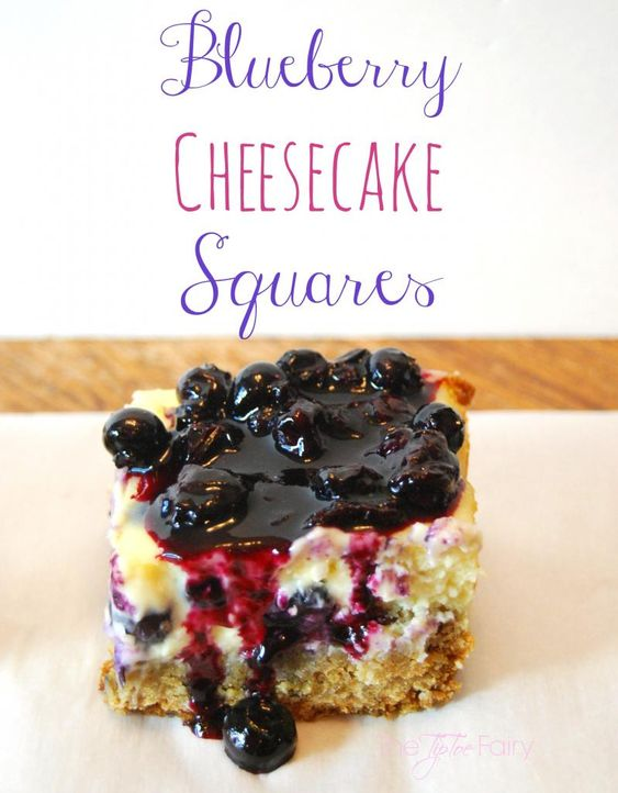 Blueberry Cheesecake Squares Oatmeal crust and fresh blueberries make ...