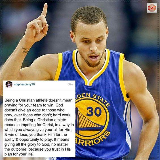 Christian Athlete Quotes: I Love U Warriors!! I Hope You Never Lose Again