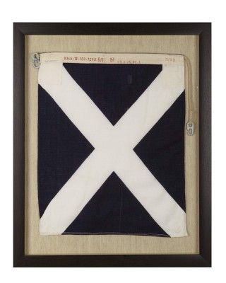 Signal Flag Mike - My Vessel is Stopped #WilliamsSonoma
