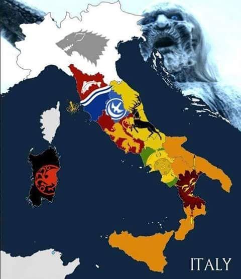 Gli Arcani Supremi (Vox clamantis in deserto - Gothian): Se l'Italia fosse Westeros