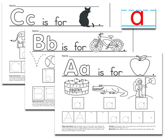 Worksheets to develop upper and lower case letter knowledge ...
