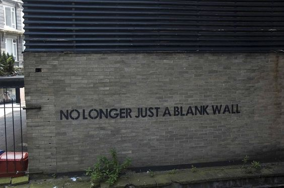 no longer just a blank wall