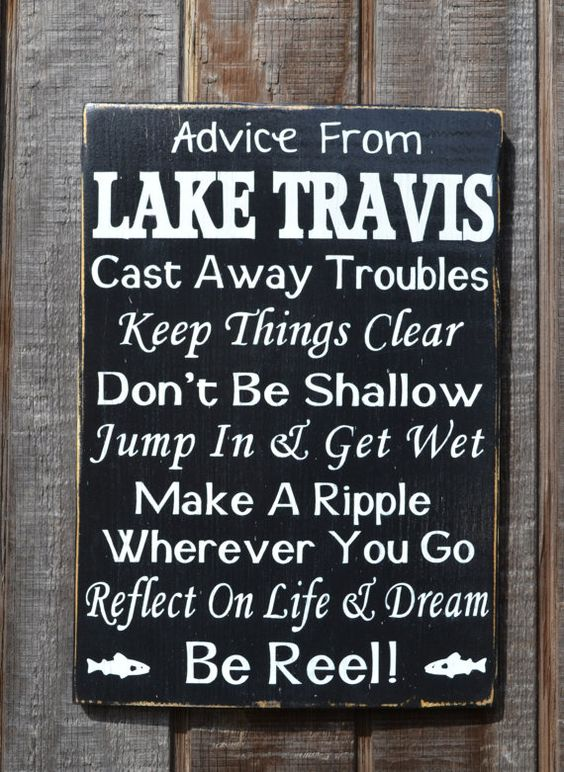 Advice From Lake Sign Custom Personalized Lake House