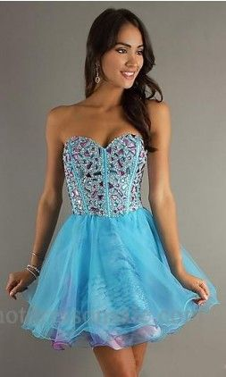 homecoming dress blue