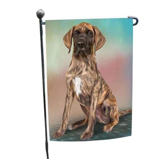 Great Dane Dog Garden Flag Great Dane Puppy Cat Garden Flag