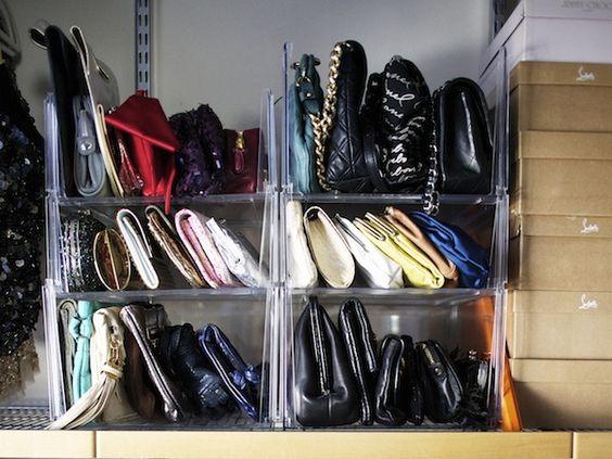 stackable purse/clutch organization