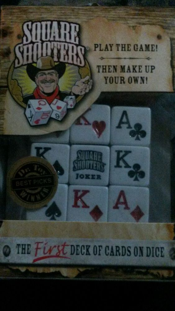 Square Shooters dice poker game kit 8 Games in One! CHRISTMAS STOCKING STUFFER