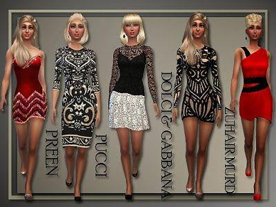My Sims 4 Blog: Designer Holiday Dresses for Teen - Elder Females ...