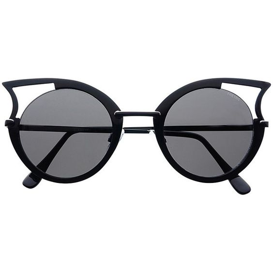 Mimi (£28) ❤ liked on Polyvore featuring accessories, eyewear, sunglasses, uv protection glasses, lens glasses, metal frame glasses, metal frame sunglasses and stainless steel glasses